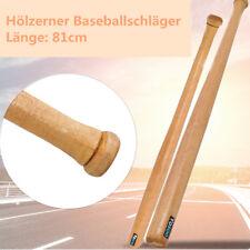 Baseballschläger Baseball Bat Holz Naturfarben Softballschläger 32 Zoll 81cm DE