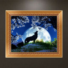 Moon Night Wolf DIY 5D Diamond Embroidery Painting Cross Stitch Craft Home Decor