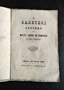 1848 RISORGIMENTO MILANO RADETZKI