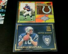 1998 1999 PEYTON MANNING RC  TEAM CHECKLIST PACIFIC + CROWN ROYALE SUPPIAL