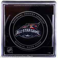 2015 NHL ALL STAR GAME OFFICIAL PUCK COLUMBUS KANE NASH OVECHKIN TOEWS