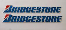 BRIDGESTONE Chrome Blue stickers - decals - 2 x  HIGH Gloss Gel Finish 150mm