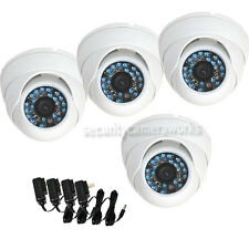 4 Pack Dome Outdoor IR Day Night Security Camera CCD Wide Angle Lens 480TVL b4c