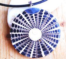 Riesig Groß 7,2 cm Silber Anhänger Ø 6 cm Muschel Perlmutt Shivas Auge Shiva Eye