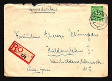 Germany 1946 Wesseling Registered Cover . 84Pf  - Z15654