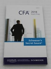 Kaplan Schweser Cfa 2018 Exam Prep Cfa Level II Schweser's Secret Sauce