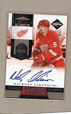 nicklas lidstrom detroit red wings auto card 2011/12 limited 2 85/99