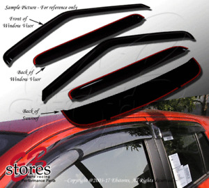 Outside Mount Rain Guards Visor Top Sun roof Combo 5pcs Mazda CX-7 CX7 2007-2011