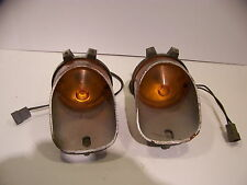 1971 1972 PLYMOUTH FRONT TURN SIGNALS COMPLETE OEM ROAD RUNNER SATELLITE GTX