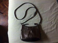 LIKE NEW Coach Ashley Patent Leather Swingpack Messenger Crossbody PEWTER GRAY