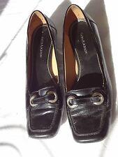 ENZO ANGIOLINI BLACK FLATS, EA FLEXO, size 7, Leather, Brazil adjustable width