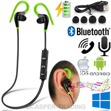 Sweatproof Wireless Bluetooth Earphones Headphones Sports Gym For Samsung iPhone