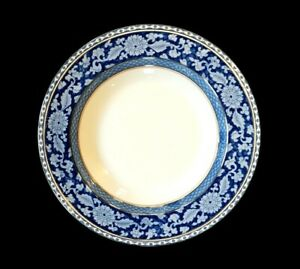Booths Jacobean Blue Large Rimmed Soup Bowl, circa 1900