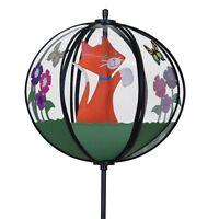 Girouette Chat, Moulin à vent, éolienne déco jardin NEUVE Wind spinner Windspiel