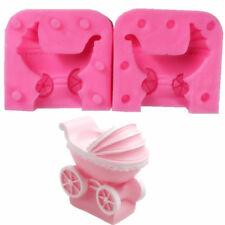 Beautiful Baby Stroller Candle Soap Mold Fondant Sugar Chocolate Cake Hot DE