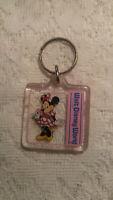 Vintage Keychain Plastic  bubble Walt Disney Minnie Mouse