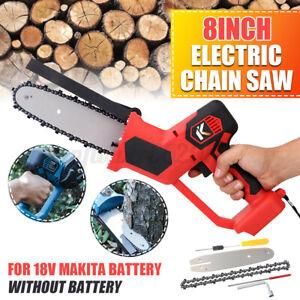 1200W 8'' Cordless Electric Chain Saw Wood Cutter Tool Garden Woodwork F/ Makita