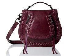 Rebecca Minkoff Small Vanity Saddle, Dark Cherry Messenger Cross Body Handbag