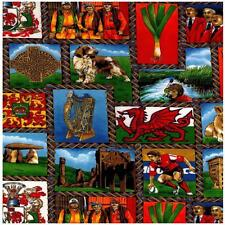 Fat Quarter Wandering Through Wales Welsh 100% Cotton Quilting Fabric Nutex