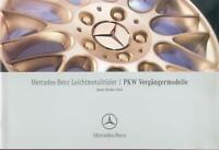 3123MB Mercedes Leichtmetallräder Prospekt 2004 10/04 Räder der Vorgängermodelle