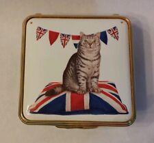 Halcyon Days Mintaka in British Patriotic Cat Enamel Pill Box