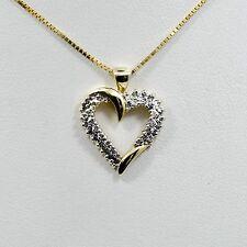 Diamond Heart Pendant 14K Yellow Gold 0.50CT