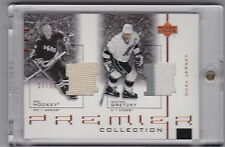 2001-02 UD PREMIER COLLECTION DUAL JERSEY GRETZKY HOWE #17/50