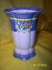 * Morimura Bros. Nippon Noritake Vase (1918-1921) COLORS BLUE FLORAL YELLOW