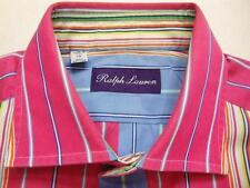 RALPH LAUREN PURPLE LABEL ITALY Stripe Long Sleeve Shirt S