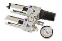 "Air Control Regulator Unit 1/2"" BSP Thread  Air Filter Lubricator Drain Function"