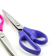 "HEMLINE PINKING SHEARS 20cm / 8"" - ZIGZAG CUT SCISSORS IN PURPLE  - DRESSMAKING"
