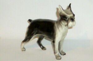 Old Dog Figurine Boston Terrier Figure Porcelain Dogs