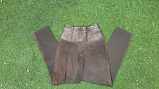 LADIES DESIGNER SUEDE LEATHER TROUSERS ABSOLU PARIS SIZE 6