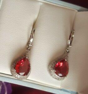 Silver earrings ruby ascent girls