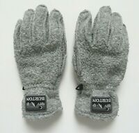 Burton Men's Snowboard Fleece Leather Gray Warm Gloves, Size M, Pre-Owned
