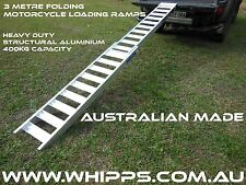 3 Metre Folding Aluminium Motorcycle Loading Ramp Whipps Alloy Products
