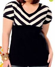 Cotton Blend Striped Blouses for Women