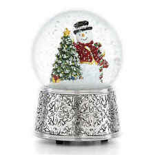 Reed & Barton Vintage Snowman Snowglobe ~ Classic Christmas Musical ~ 886532 NIB