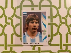 Lionel Messi 2006 Panini World Cup Rookie Sticker #185