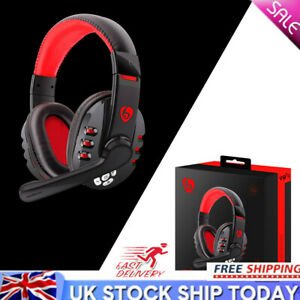 Wireless Bluetooth Gaming Headset Headphones Stereo with MIC For PC UK STOCK