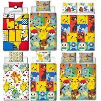 Official Pokemon Licensed Duvet Covers Single/Double Pikachu Bedding Gaming
