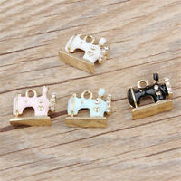 5x Sewing Machine Enamel Alloy Charm Pendant 16*13MM DIY Earrings/Bracelet Craft