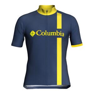 Cycling Jersey Bib Short Bicycle Bike Motocross MTB Shirt Team Colombia Clothing