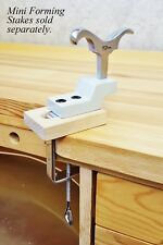 Mini Stake Anvil Holder Bench Top with Clamp Holder for Workbench by Eurotool.