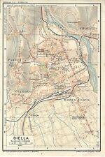 Carta geografica antica BIELLA Pianta della città 1914 Old antique map