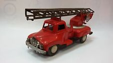 Vintage Rare 50's Soviet Tin Toy Fire Truck Friction Mechanism