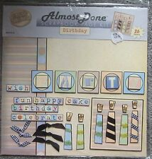 Hot off the Press Almost Done Scrapbook Page Kit Birthday REDUCED