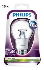 10x Philips LED 40W House Clear Bulb Lamp E27 Lumen 2700K 6.5 W Warm White 470lm