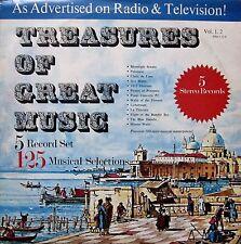 Treasures of Great Music - 5 Record Set (5x Vinyl, Ex.Cond., Classical)