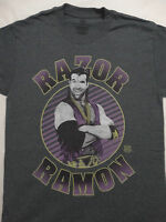 Razor Ramon Bad Guy Officially Licensed Wrestling WWE Gray Dark Heather T-Shirt